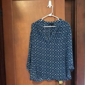 Banana Republic Split Neck Blouse